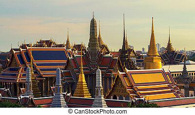 בנגקוק, תאילנד, בודהא, שקיעה, אזמרגד