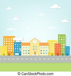 בנין, עיר, בית ספר