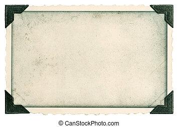בציר, מסגרת של צילום, עם, שלוט, ו, קצוות