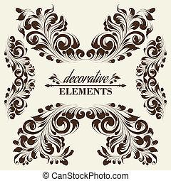 בציר, פרחוני, elements.