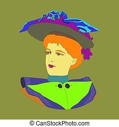 בציר, lady., חרות, דמות של דוגמה