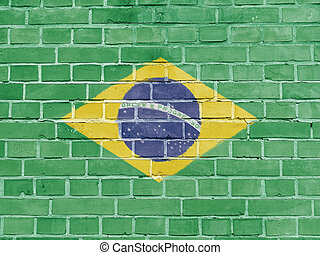 ברזיל, קיר, דגלל, ברזילאי, פוליטיקה, concept: