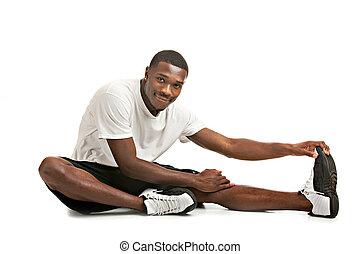בריא, אימון, להסתכל, אמריקאי, אפריקני, מוכן, זכר