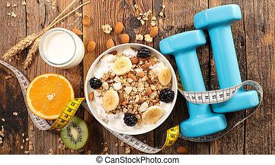 בריא, דאמבאל, cerea, סגנון חיים, ארוחת בוקר, פרי