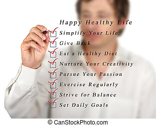 בריא, חיים, שמח