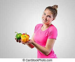 בריא, ירקות לא מבושלים