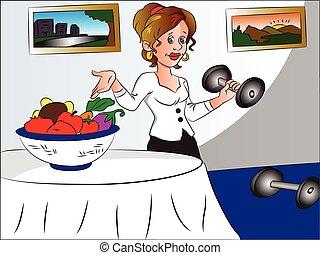 בריא, lifestyle., וקטור