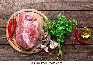 בשר לא מבושל