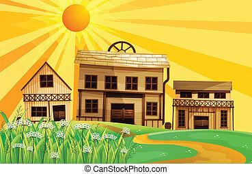 בתים, גבעות, נתיב
