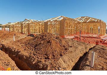 בתים חדשים, בניה