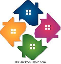 בתים, שיתוף פעולה, לוגו