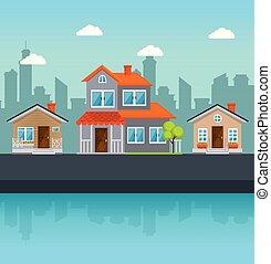 בתים, שכונה, צבעוני