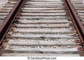 גהץ, חלוד, אלף, רכבת, פרט, מעל, חושך, אבנים, סריג, דרך