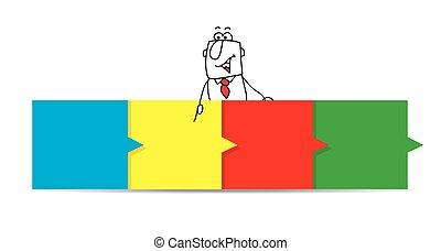 ג'ו, אופקי, צבע, לוח מכונים