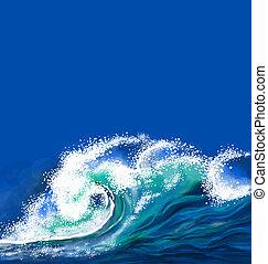 גל של אוקינוס
