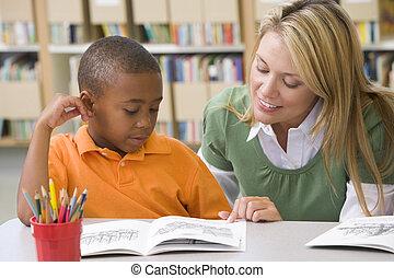 גן ילדים, מומחיויות, לעזור, סטודנט קורא, מורה