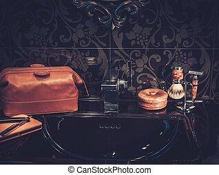 ג'נטלמן, מותרות, אביזרים של חדר האמבטיה, interior.