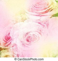 גראנג, יפה, ורדים, רקע, (, 1, של, set)