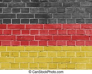 גרמני, קיר, דגלל, גרמניה, פוליטיקה, concept: