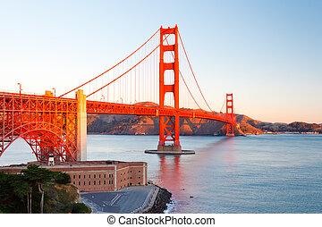 גשר של שער זהוב, ב, עלית שמש