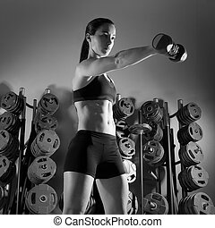 דאמבאל, אולם התעמלות, אישה, אימון, כושר גופני