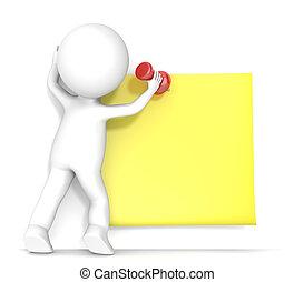 דביק, צהוב, note.