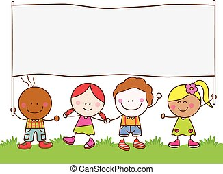 דגל, ילדים, חנה, להחזיק