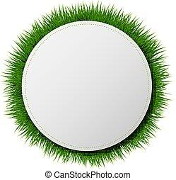 דגל, כדור, עם, דשא, רקע לבן