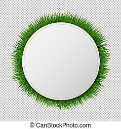 דגל, כדור, עם, דשא, שקוף, רקע