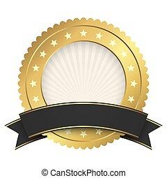 דגל, כפתר, שחור, דפוסית, זהב