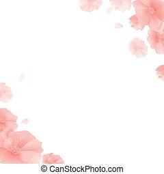 דגל, עם, פרחים, ו, רקע לבן