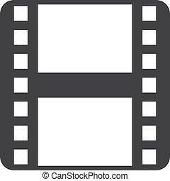 דוגמה, רקע., וקטור, שחור, התפשט, לבן, הסרט, איקון
