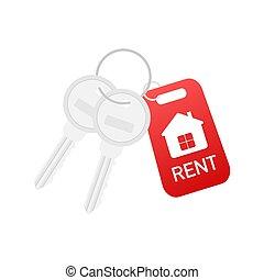דוגמה, home., דיר, מחזיק, דפוסית, רכוש, השכר, מכירה, concept., וקטור, אמיתי, סוכן, הקלד