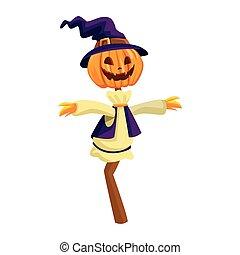 דחליל, כובע של מכשפה, דלעת