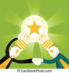 דירה, מושג, שיתוף פעולה, דוגמה, יצירתי, עצב