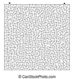 דירה, ריבוע, conundrum., לבירינת, בלבל, הפנט, הפרד, דוגמה, מישהו, רקע., משחק, וקטור, adult., לבן, exit., maze., ילדים, kids., קשה