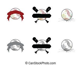דמויות, גראנג, softball/, בייסבול