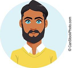 דמות, הודי, avatar, איש