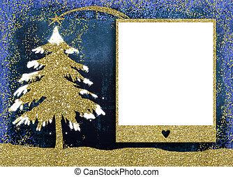 דמין מסגרת, חג המולד, כרטיסים.