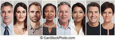 דממה, פנים של אנשים