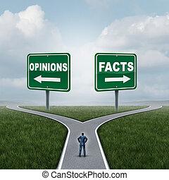דעות, עובדות, או