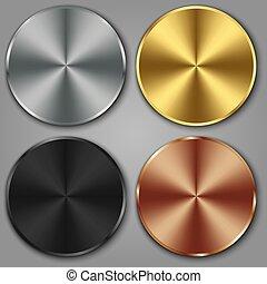 דפוסיות, קבע, ארד, כפתר, מתכת, דוגמה, זהב, וקטור, כסף, טקסטורה