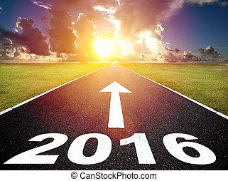 דרך, ל, חדש, yea, 2016, ו, עלית שמש, רקע
