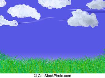 דשא, ו, שמיים