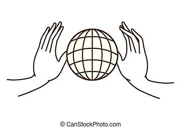 הארק גלובוס, אופי, avatar, ידיים