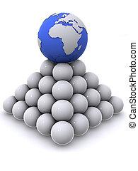 הארק, פירמידה, כדורים