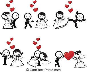 הדבק דמות, חתונה
