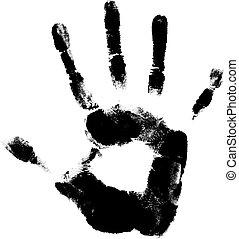 הדפס, יד אנושית