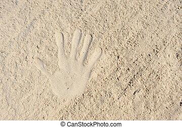 הדפס, sand., העבר