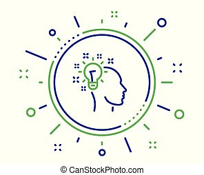 הובל קל, חתום., רעיון, וקטור, בן אנוש, נורת חשמל, קו, icon.